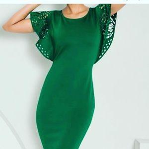 NWOT Venus Emerald Formal Cut-Out Sleeves Cocktail